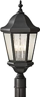 Feiss OL5907BK Martinsville Outdoor Post Lighting, Black, 3-Light (10