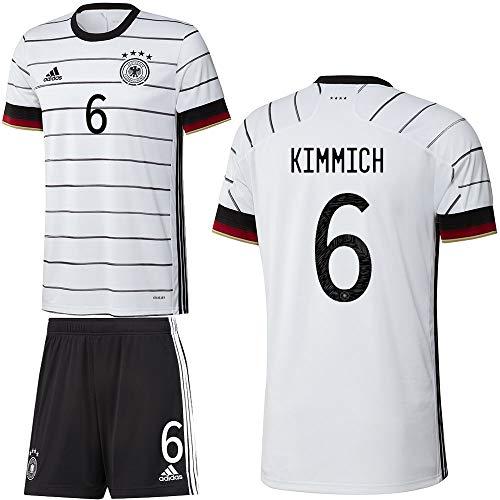 adidas UEFA Fußball DFB Deutschland Heimset EM 2020 Home Kit Trikot Shorts Kinder Kimmich 6 Gr 176