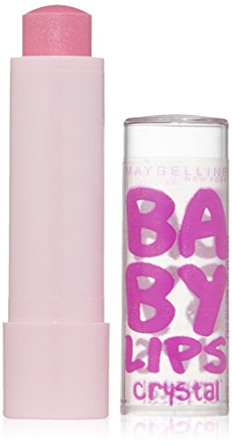 Maybelline New York Baby Lips Crystal Lip Balm, Beam of Blush, 0.15 Ounce