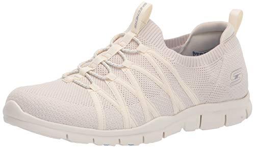 Skechers Gratis-Chic Newness, Zapatillas Mujer, Color Blanco, 35 EU