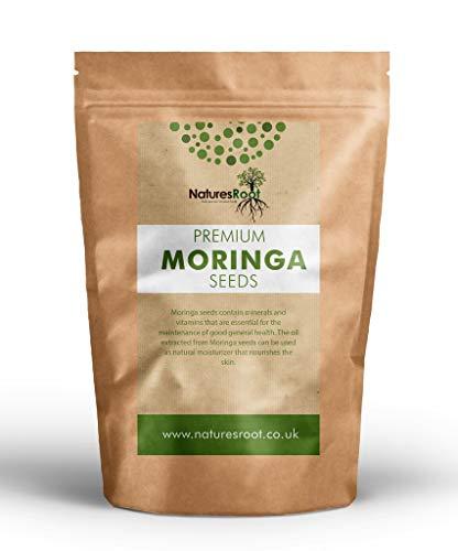 Natures Root Moringa Oleifera Samen 125 Stück - GVO-Frei | Essbare Samen | Groß und Keimfähig