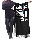 wupinpai Sciarpa in cashmere con frange California For Trump 2020 Sciarpa invernale extra large da donna