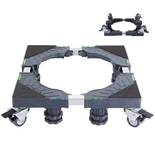 Reglable Socle Machine a Laver 40 cm - 65 cm, Support Machine a Laver a Roulette Rehausseur Meuble Adjustable Base de Réfrigérateur Lave Linge et Seche Linge