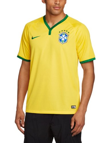 Jersey Replica Home e Yellow Green 14/16 Brasil Nike TG. XL Yellow Green