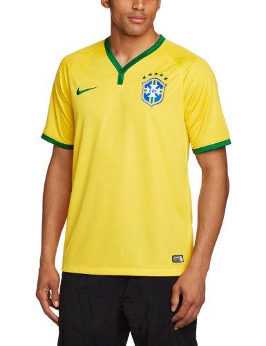 Nike Mens Brazil Home Soccer Jersey 2014 (Yellow) (XL)