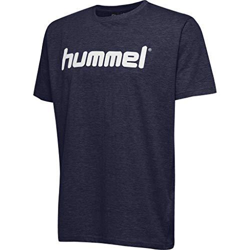 Hummel Kinder HMLGO Kids Cotton Logo T-Shirts, Marine, 152