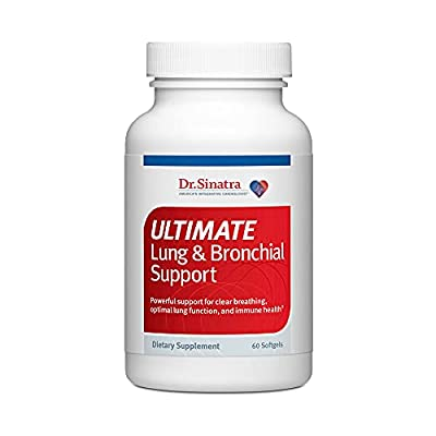 Dr. Sinatra's Ultimate Lung & Bronchial Support Supplement for Lung Health, Clear Breathing, Immune and Heart Health, and Seasonal Respiratory Challenge Support (60 Capsules, 30-Day Supply) by Sinatra