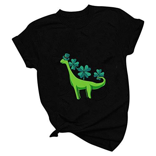 Kobay Sweatshirt Frühling und Sommer mit Yoga-Leggings und Joggingkleidung kombiniert Werden Damenmode Casual Printing O-Ausschnitt Lose Kurzarm T-Shirt Pullover Tops Geschenke für Frauen