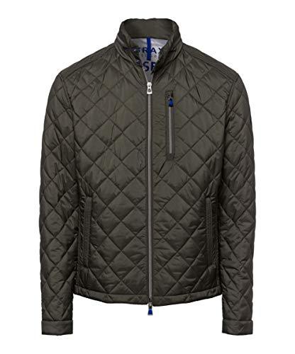 BRAX Herren Style Bruce City Stepp Jacke, Khaki, Large (Herstellergröße: 52)