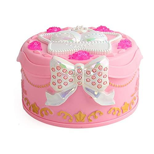 SPNEC LQGSYT Caja de música de Chica Bailando Rosa Adornos de la decoración del hogar Organizador de la joyería organizadora Caja de música