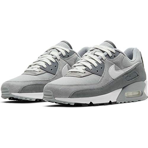 Nike Zapatillas para hombre Air Max 90 Premium Lt Smoke Grey/White-Particle Grey, color Multicolor, talla 41 EU