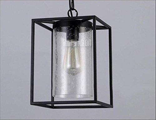 Suspensions Européenne rétro industrielle en verre lustres en fer forgé style simple éclairage personnalité créative gouttes de pluie bulle en verre lustres