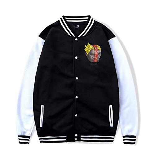 Chrisbrown Young Thug Slime & B Unisex Casual Baseball Uniform Jacket Sport Coat Sweatshirt Hoodie Black