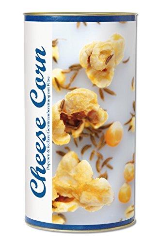 Gourmet Popcorn zum Selber-Backen, Käse auf frischem Popcorn, Grana Padano, Raffinierte Geschenk-Idee, frisch-duftend, auch als Party-Snack Cheese Corn von Feuer & Glas 319g