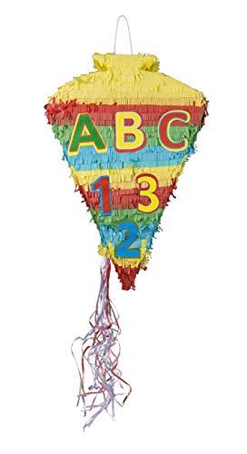Idena 40600 Pinata Schultüte, Schulanfang, 55 x 37,5 x 14 cm, Einschulung, Zuckertüte, Schule, 1.Schultag