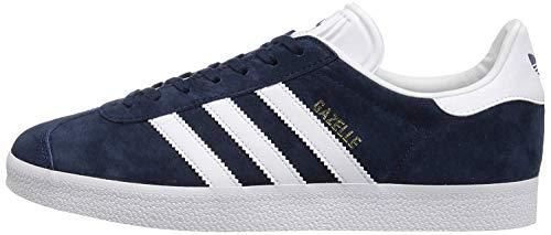 adidas Originals Gazelle - Zapatillas Deportivas para Hombre, Color Azul Marino, Blanco y Dorado metálico, 10 UK
