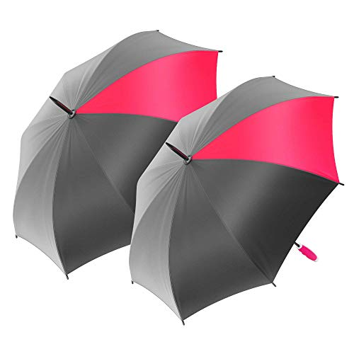2-Pack Nautica Golf Umbrella - Large, Portable, Lightweight & Folding - Best Windproof Umbrellas for Rain, Sun & Wind Resistant Protection, Two Person Coverage in Pink