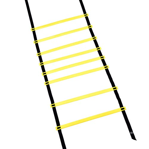 Yosooo Agility Ladder, Speed Reaction Sport Training Soccer Adjustable Rungs Soft Ladder 8M 16 Rungs for Soccer, Football Fitness Boxing Exercise Tool with Carry Bag (#1 4M)