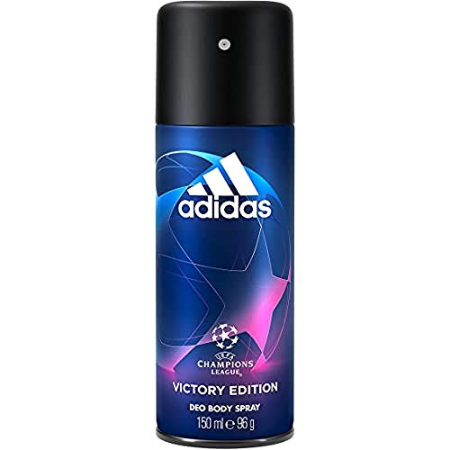 adidas Uefa Champions League Victory Edition Deodorante Spray Uomo, Freschezza a Lungo, 150 ml