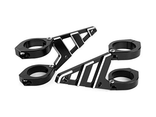 Soportes Faros 32-33mm con Abrazaderas para Horquilla para Moto - CNC Aluminio - Alta Calidad