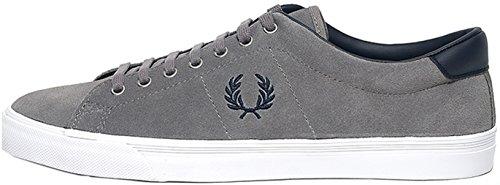 Zapatillas Underspin Suede Falcon Grey de Fred Perry Shoes