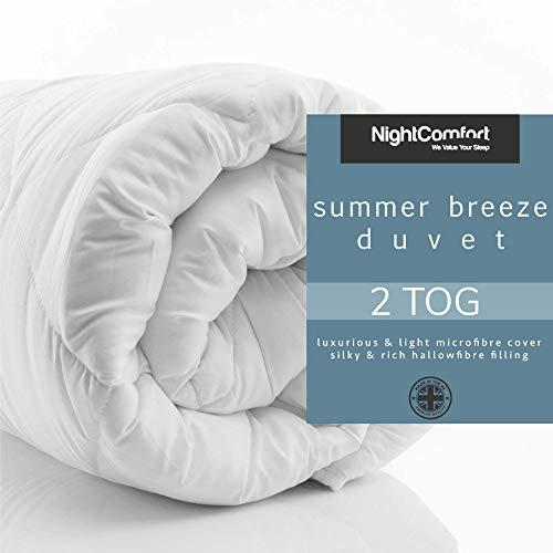 Night Comfort Anti Allergy Summer Breez Luxury Microfibre Light Hollow Fibre All Season Duvet (2 Tog, Single)