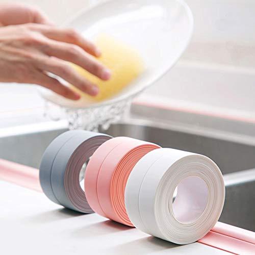 Aober, Cinta para Fregadero de Cocina, Adhesivo para Pared, baño, Ducha, Espacio en la Pared para decoración del hogar, Pegatinas Autoadhesivas de PVC a Prueba de Agua