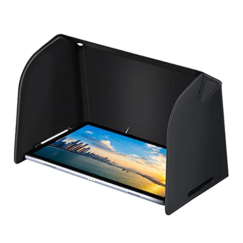 DEVASO Tablet Sun Shade Privacy Hood for iPad Pro/Air for Galaxy Tab S7/S6 10-11 Inch Tablet Outdoors Sun Sunshade (Black)