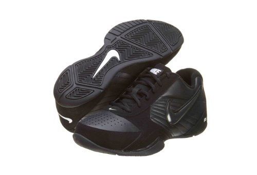 Nike Men's Air Baseline Low Basketball Shoes, Black/White/Black, 12
