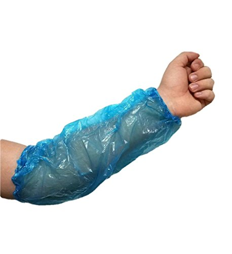 ProCES Arm/Sleeves Covers - Pack of 100 - Polyethylene - Blue - Painting, Repair,- 18