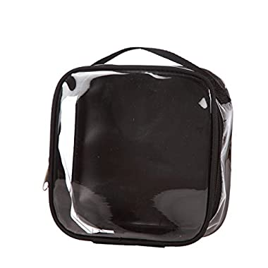 Clear TSA Approved 3-1-1 Travel Toiletry Bag/Transparent See Through Organizer (Black)