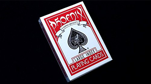 Spielkarten Phoenix Deck Large Index (Red) by Card-Shark - Trick Playing Cards