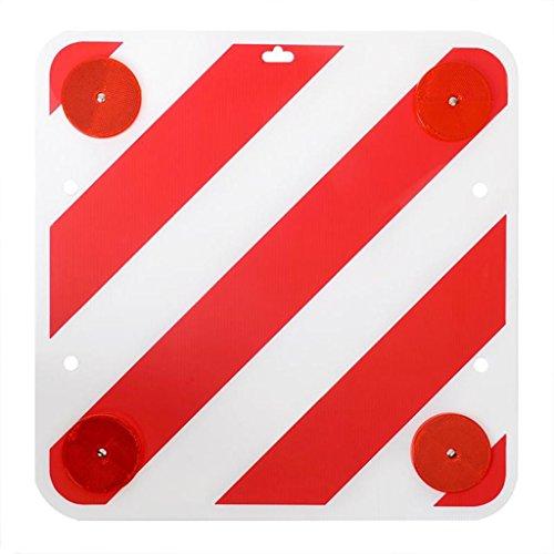 Warntafel Kunststoff 50x50cm mit Rückstrahlern