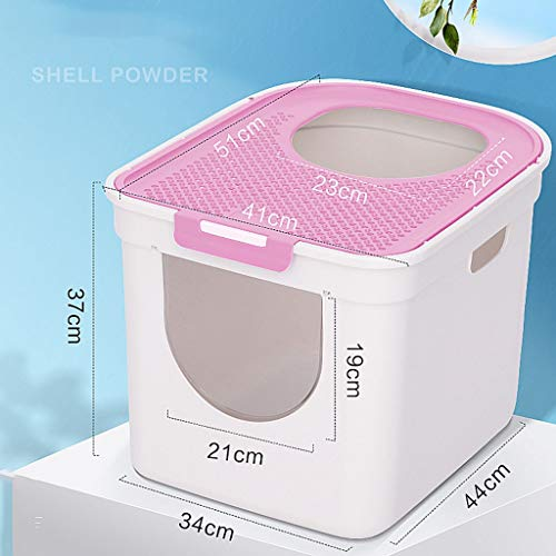 2020 Self Cleaning Cat Litter Box,Anti-splashing And Deodorizing Fully Enclosed Top Entry Automatic Litter Box Self Cleaning Suitable For Cats Under 16 Pounds Cat Supplies -best self cleaning litter b