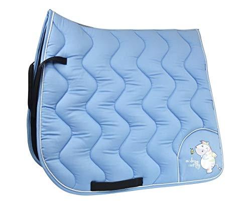 EQuest Schabracke Cotton Wave Pummel Zebrasus mit Biese Form Pony-Vielseitigkeit, Farbe hellblau