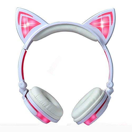 classement un comparer Écouteurs Cat Ear Glow, écouteurs filaires pliables…