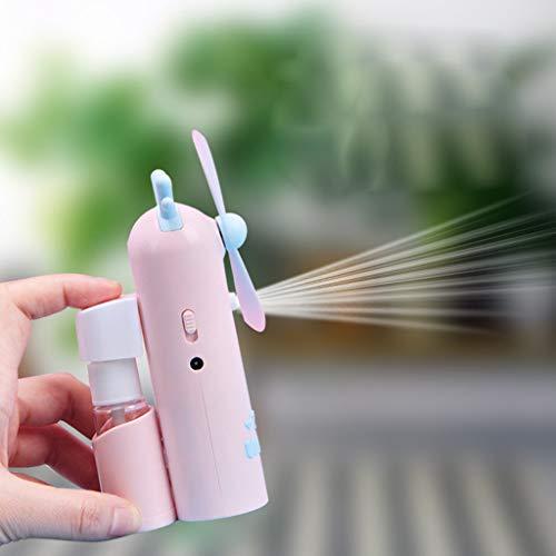 Buy Discount Mini Handheld Fan, USB Cooler Misting Fan Water Spray Fan Rechargeable Portable Persona...
