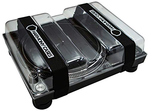 Harmony Cases HC-DC3 Protective DJ Gear Saver Polycarbonate Hard Plastic Dust Cover Case Compatible with Pioneer PLX-1000 Turntable Deck (Includes Stretch Bands)