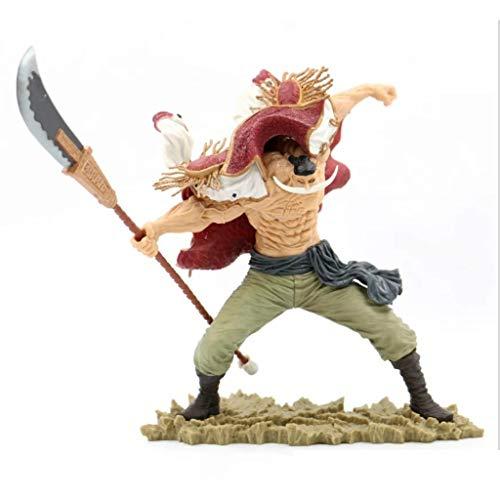 Lilongjiao One Piece: Barba Blanca Edward Newgate espadón Batalla Edición de PVC de Alta Figura Acerca 9.45inches / 24cm