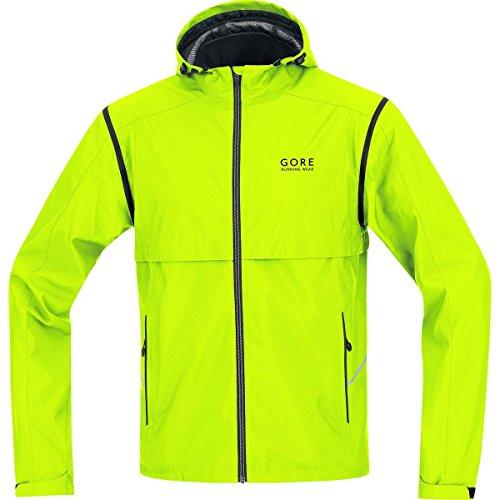 GORE WEAR Herren Jacke Essential Windstopper Active Shell Zip-Off, Neon Yellow, S