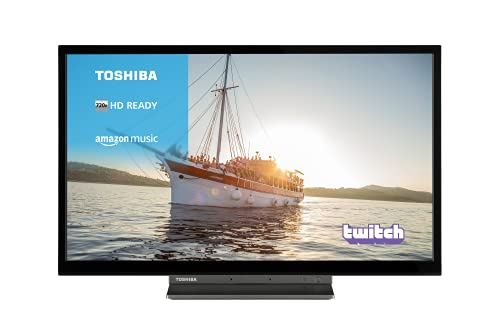 Toshiba 24WK3A63DB 24-Inch HD Ready Smart TV with Freeview Play, Alexa Built-in (2020 Model), Black