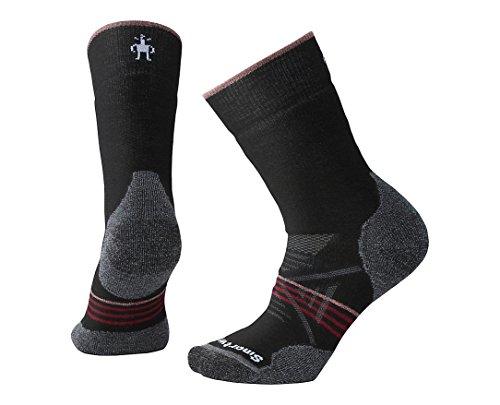 Smartwool Women's PhD Outdoor Medium Crew Socks Black-Tibetan Red FR: M (Taille Fabricant: M)