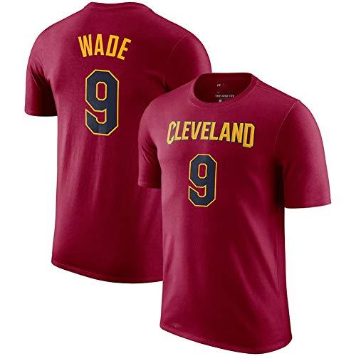 FEZD Herren-Basketball-Kleidung NBA Cleveland Cavaliers 9# Windler-Rundhalsausschnitt jeysey, Gemütlich Licht atmungsaktiv Top, Rundhalsausschnitt-Freizeit-T-Shirt,L