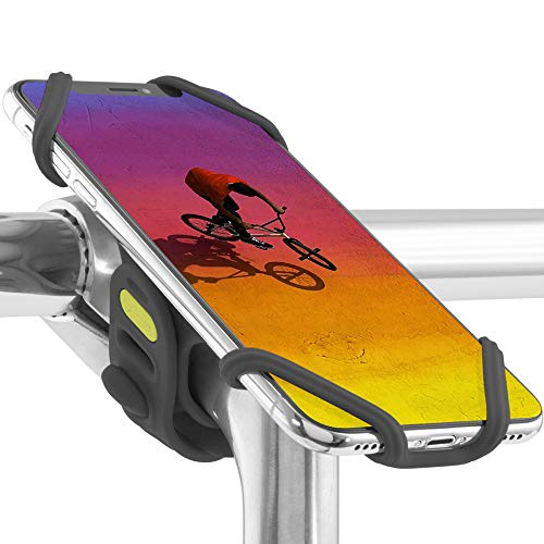 Bone Bike Tie Pro 2 Universal Bike Phone Mount (Upgraded Compatibility with Face ID and Large Smartphones) Bicycle Stem Handlebar Cell Phone Holder for iPhone 11 Pro Max XS XR 8 7 6 Plus- Black
