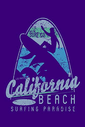 Surf Co - Los Angeles California - Beach Surfing Paradise: 110 Page, Wide Ruled 6' x 9'  Blank Lined Journal