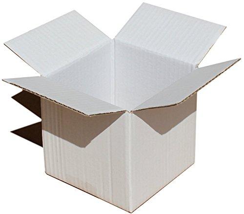 & # x2606; 12,7x 12,7x 12,7cm weiß verpackungsboxen Stauraum Post für: Kuchen Party Geschenk Tasse Tee Porzellan Set Verpackung (4) weiß