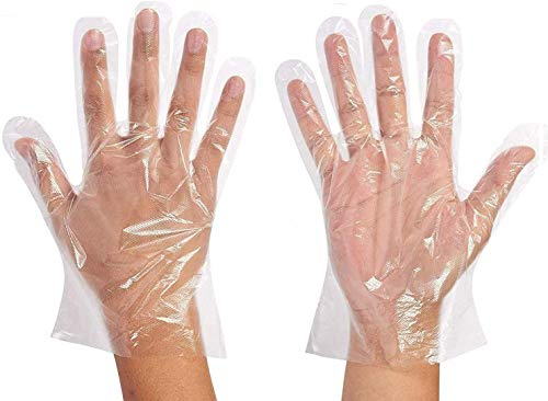 Magid Glove & Safety 500 PCS Disposable Latex Free Plastic Food Prep Glove - One Size Fits Most | Food Handling BPA Free ComfortFlex Clear Polyethylene Gloves (500 Gloves) (H98)