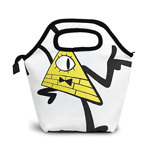 NiWCGP Bill Cipher Clipart Lunchtasche Wasserdicht Mittagessen Tasche Isolierte Mittagessen Kühler Picknicktaschen für Frauen Kinder Mädchen Männer Jungen Büro Schule Reisen