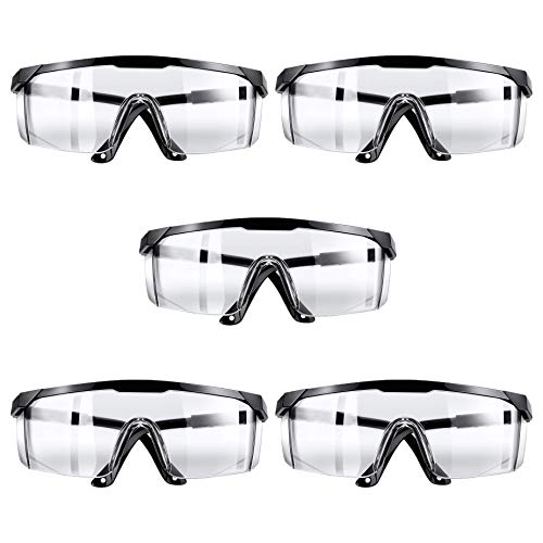 KINTS Safety Glasses with Side Shields Anti Saliva Scratch Resistant Splashproof Dustproof - Comes with Protective Pouch for Storage