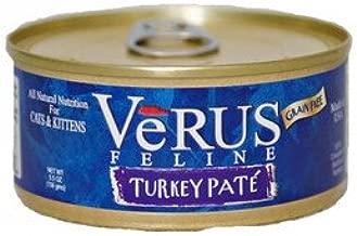 Verus Grain Free Turkey Pate Canned Wet Cat Food (5.5 oz.) [Set of 24]